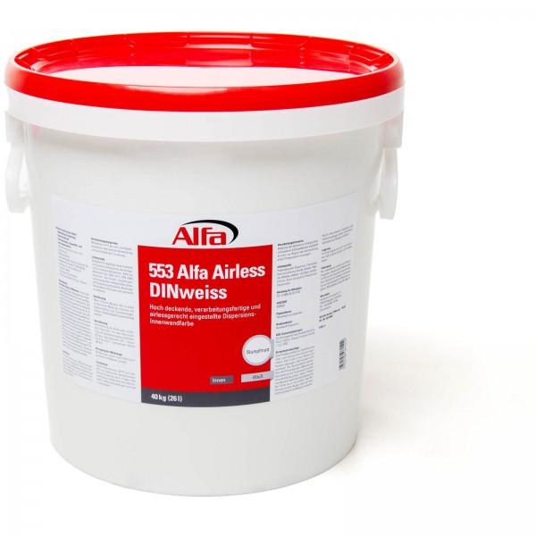 553 Alfa Airless DINweiss (Dispersionswandfarbe)
