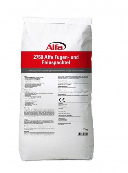 2750 Alfa Fugen- und Feinspachtel 25 kg - VE1 - 1 Stück