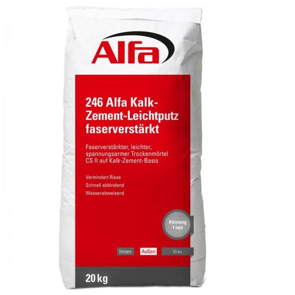246 Alfa Kalk-Zement-Leichtputz - faserverstärkt